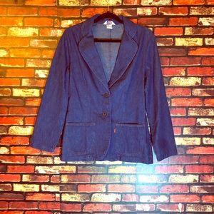 3/$15🌼 Size 12 Levi Vintage Orange Tag Blazer